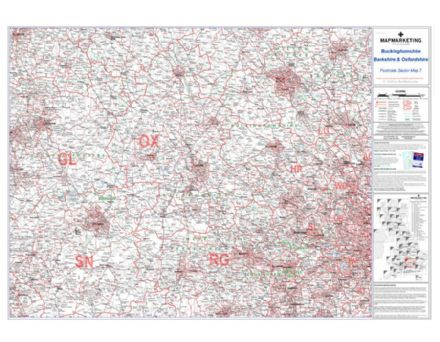 Postcode Sector Map 7 Berkshire, Buckinghamshire and Oxfordshire
